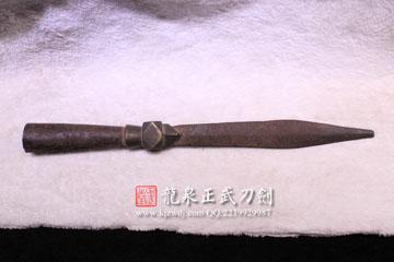 龙泉正武刀剑周正武古兵器收藏清代矛头2