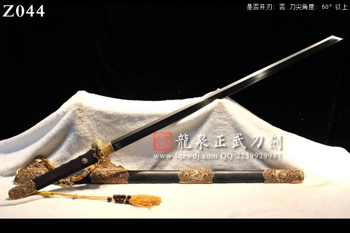 手锻光复级旋焊锻黑鱼皮鞘八龙本色式装切刃造唐刀