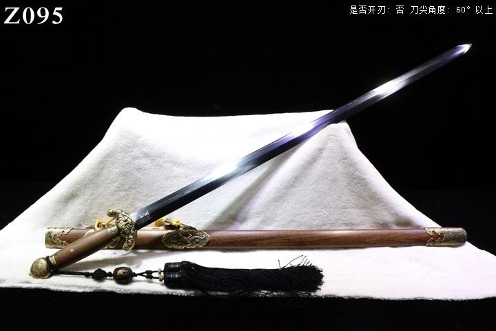周正武龙泉剑三枚地肌铜装经典龙泉剑