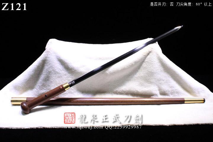 周正武龙泉剑三枚地肌铜装八面拐仗剑