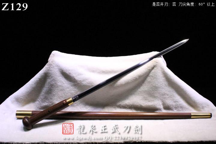 周正武龙泉剑手锻光复级蚁木鞘八面拐仗剑