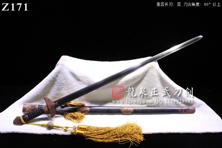 手锻超级光复旋焊鱼皮鞘手工装八宝如意剑