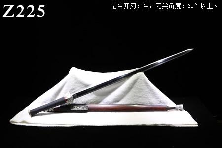 周正武汉剑手锻光复级鎏银新标准装八面汉剑