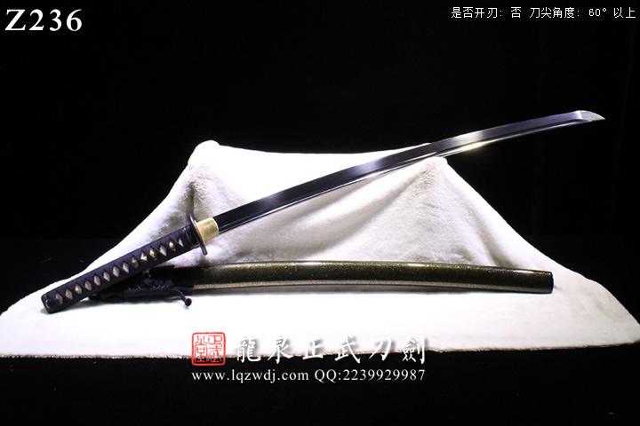 三枚地肌武藏铁装漆鞘打刀