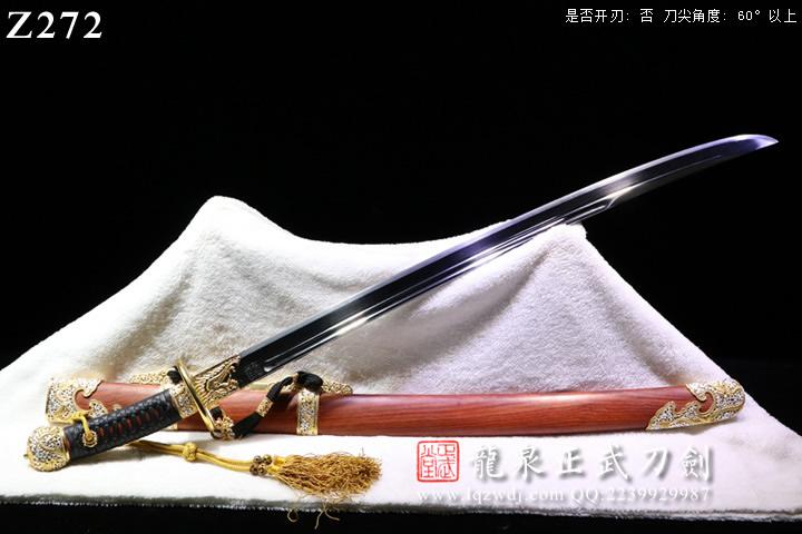 手锻光复级鎏金鎏银镂空装非州檀鞘新版清官刀