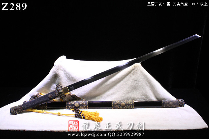 周正武唐刀三枚地肌亮漆鞘素雅版切刃造唐刀