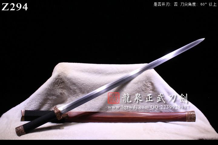 手锻草钢锻手雕紫铜装龙渊剑