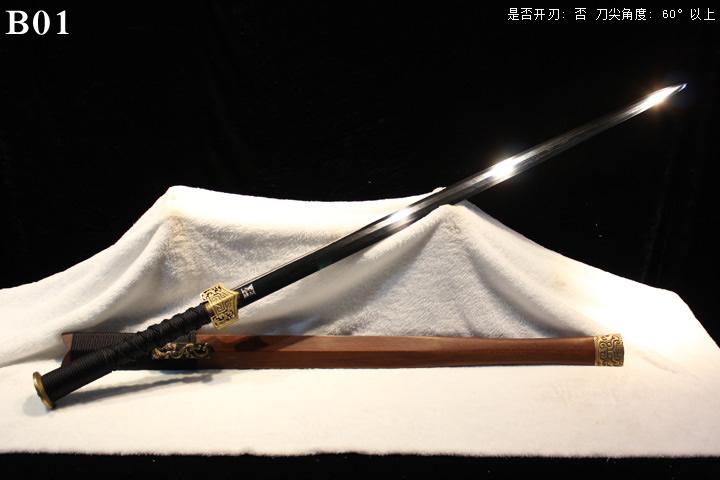 龙泉正武堂三枚地肌蚁木鞘标准装八面汉剑