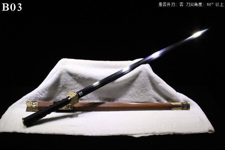 龙泉正武堂三枚地肌新标准装八面汉剑