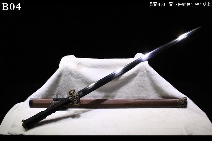 龙泉正武堂三枚地肌蚁木鞘櫑具装八面汉剑