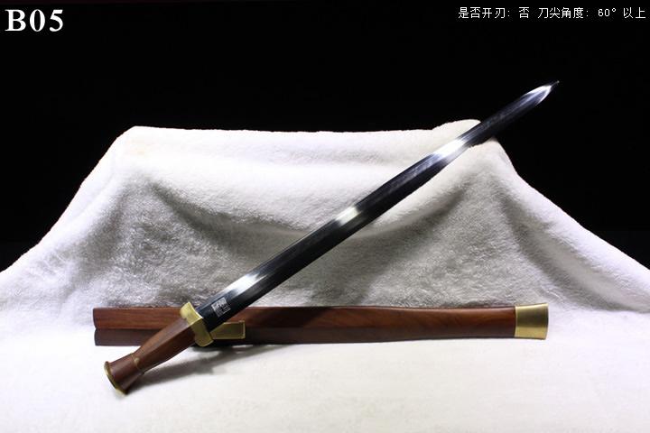 龙泉正武堂三枚地肌蚁木鞘铜装楚剑