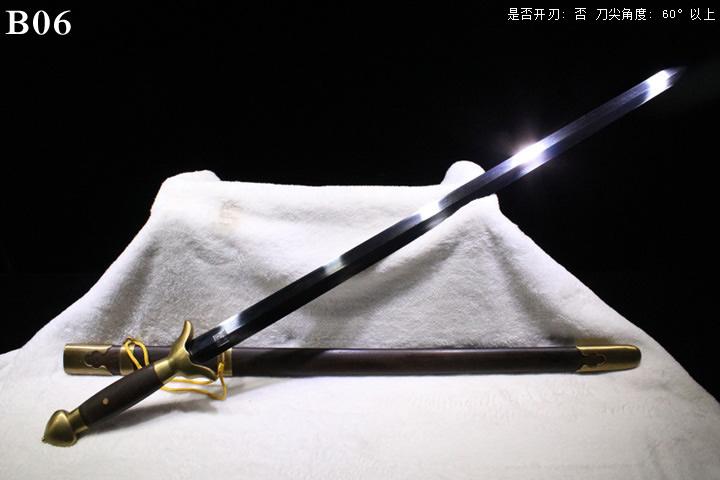 龙泉正武堂刀剑三枚地肌铜装太极剑