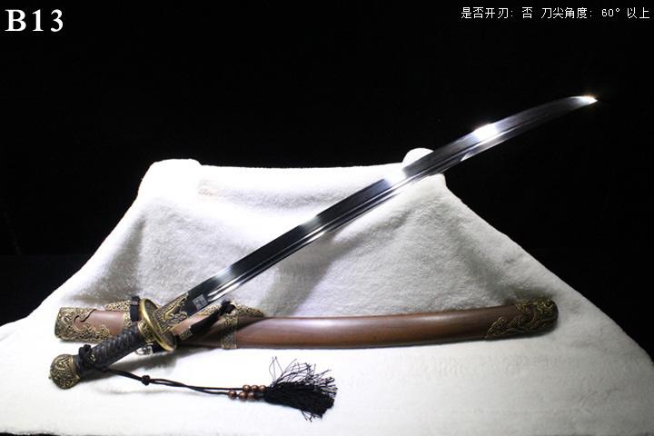 龙泉正武堂三枚地肌蚁木鞘新版清官刀